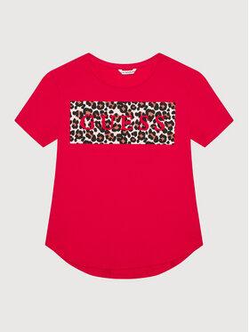 Guess Guess T-Shirt J1YI26 K6YW1 Różowy Regular Fit