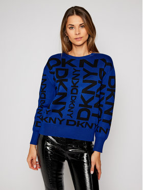 DKNY DKNY Пуловер P0MSU433 Син Relaxed Fit