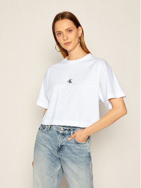 Calvin Klein Jeans Calvin Klein Jeans T-Shirt Puff Print Back Logo J20J214434 Biały Relaxed Fit