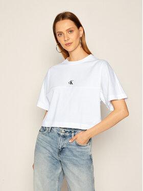 Calvin Klein Jeans Calvin Klein Jeans T-Shirt Puff Print Back Logo J20J214434 Bílá Relaxed Fit