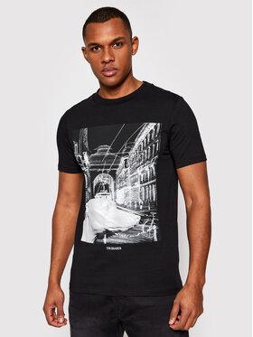 Trussardi Trussardi T-Shirt Pure 52T00459 Czarny Regular Fit