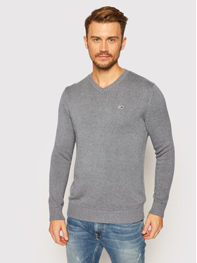 Tommy Jeans Tommy Jeans Pullover Essential DM0DM08803 Grau Regular Fit