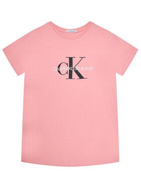 Calvin Klein Jeans Calvin Klein Jeans Póló Monogram Logo IU0IU00068 Rózsaszín Regular Fit