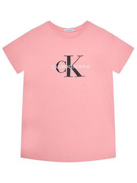 Calvin Klein Jeans Calvin Klein Jeans Tričko Monogram Logo IU0IU00068 Ružová Regular Fit