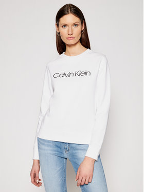 Calvin Klein Calvin Klein Mikina Core Logo K20K202017 Bílá Regular Fit