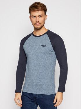 Superdry Superdry Marškinėliai ilgomis rankovėmis Ol Baseball M6010145A Mėlyna Regular Fit
