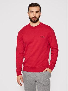 Calvin Klein Calvin Klein Bluza Chest Logo K10K107031 Czerwony Regular Fit