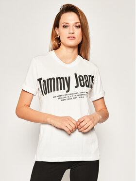 Tommy Jeans Tommy Jeans Blúz Diagonal DW0DW08037 Fehér Regular Fit