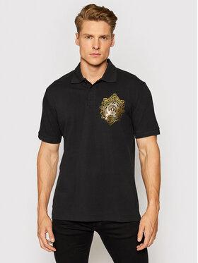 Versace Jeans Couture Versace Jeans Couture Pólóing Vemblem Leaf 71GAGF01 Fekete Regular Fit