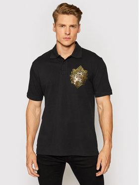Versace Jeans Couture Versace Jeans Couture Тениска с яка и копчета Vemblem Leaf 71GAGF01 Черен Regular Fit