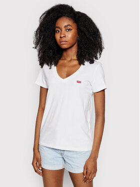 Levi's® Levi's® T-Shirt Perfect V-Neck Tee 85341-0002 Biały Regular Fit