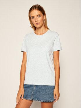 Calvin Klein Calvin Klein T-shirt 3D Metallic Logo K20K202156 Gris Regular Fit