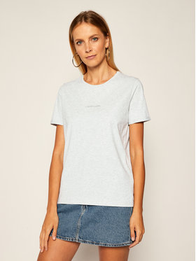 Calvin Klein Calvin Klein T-Shirt 3D Metallic Logo K20K202156 Szary Regular Fit