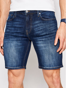Guess Guess Szorty jeansowe M1GD03 D4B74 Granatowy Regular Fit