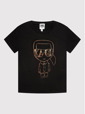 KARL LAGERFELD KARL LAGERFELD T-Shirt Z15330 S Μαύρο Regular Fit