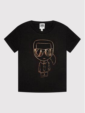 KARL LAGERFELD KARL LAGERFELD T-shirt Z15330 S Noir Regular Fit