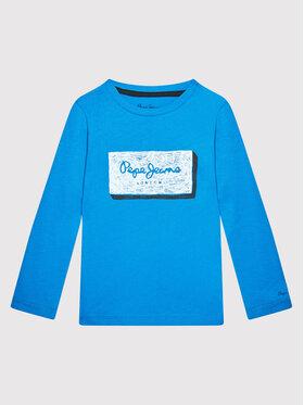 Pepe Jeans Pepe Jeans Bluzka Asier PB503195 Niebieski Regular Fit