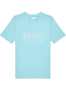 Boss Boss Marškinėliai J25G96 S Mėlyna Regular Fit