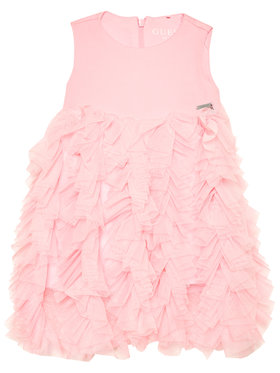Guess Guess Elegáns ruha K1RK24 KAE30 Rózsaszín Regular Fit