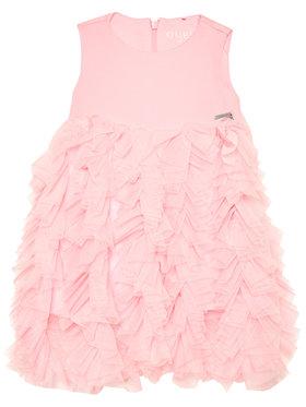 Guess Guess Sukienka elegancka K1RK24 KAE30 Różowy Regular Fit