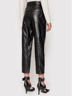 Marella Marella Spodnie z imitacji skóry Treviso 31360916 Czarny Regular Fit