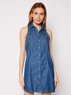 Pepe Jeans Pepe Jeans Sukienka jeansowa Jess PL952815 Granatowy Regular Fit
