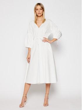 Trussardi Trussardi Sukienka letnia Popeline 56D00517 Biały Regular Fit