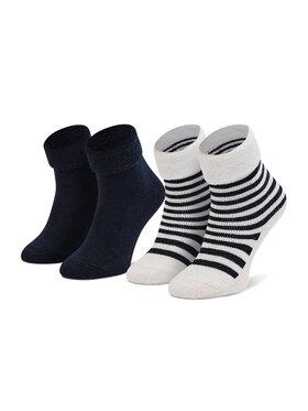 Boss Boss Vaikiškų ilgų kojinių komplektas (2 poros) J90214 Tamsiai mėlyna