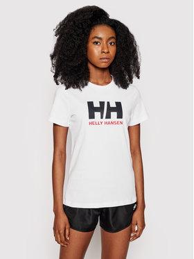Helly Hansen Helly Hansen Marškinėliai Logo 34112 Balta Classic Fit