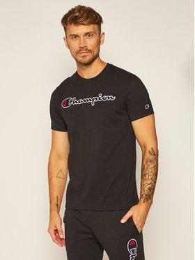 Champion Champion T-Shirt Crewneck Tee 214726 Czarny Comfort Fit