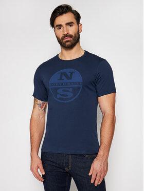 North Sails North Sails T-Shirt Graphic 692689 Dunkelblau Regular Fit