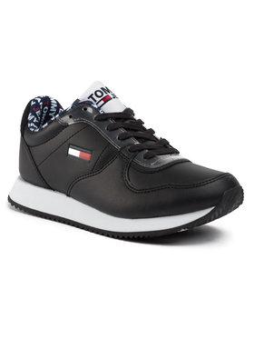 Tommy Jeans Tommy Jeans Laisvalaikio batai Wmns Casual Tommy Jeans Sneaker EN0EN00719 Juoda