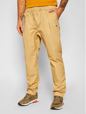 Champion Champion Pantaloni di tessuto Tapered Woven 215331 Beige Custom Fit