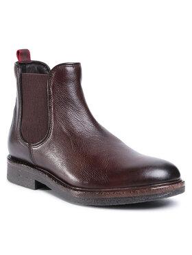 Gino Rossi Gino Rossi Kotníková obuv s elastickým prvkem MB-HAVR-01 Hnědá