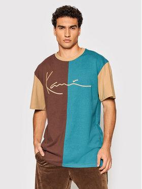 Karl Kani Karl Kani T-Shirt Signature Block 6030936 Brązowy Regular Fit
