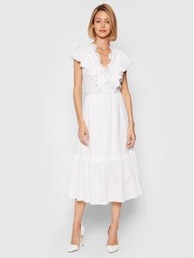 Rinascimento Rinascimento Sukienka letnia CFC0103755003 Biały Regular Fit