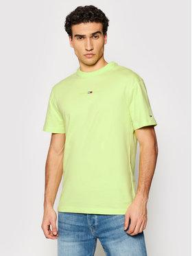 Tommy Jeans Tommy Jeans T-shirt Gel Linear Logo DM0DM10702 Zelena Regular Fit