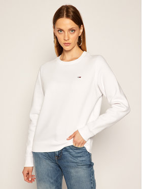 Tommy Jeans Tommy Jeans Pulóver Fleece DW0DW09227 Fehér Regular Fit