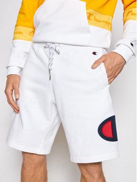 Champion Champion Športové kraťasy Satin & Twill C Logo 214207 Biela Comfort Fit