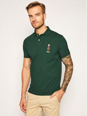 Polo Ralph Lauren Polo Ralph Lauren Тениска с яка и копчета Ssl 710815187003 Зелен Slim Fit