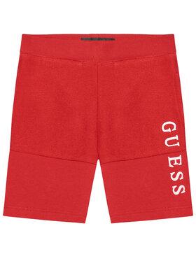 Guess Guess Sportiniai šortai N1RQ08 KA6R0 Raudona Regular Fit
