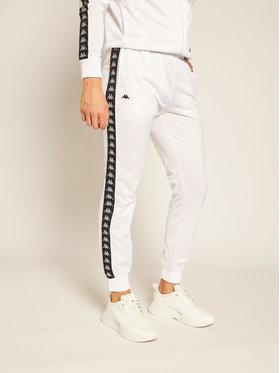Kappa Kappa Pantaloni da tuta Helge 308020 Bianco Regular Fit