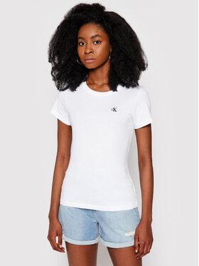 Calvin Klein Jeans Calvin Klein Jeans T-Shirt J20J212883 Bílá Slim Fit