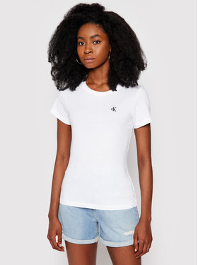 Calvin Klein Jeans Calvin Klein Jeans Тишърт J20J212883 Бял Slim Fit