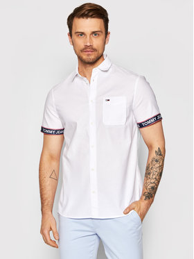 Tommy Jeans Tommy Jeans Риза Tjm Tape Short Sleeve DM0DM10143 Бял Regular Fit