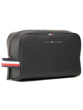 Tommy Hilfiger Tommy Hilfiger Pochette per cosmetici Essential Pu Wasbag AM0AM07284 Nero