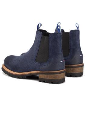 Tommy Jeans Tommy Jeans Kotníková obuv s elastickým prvkem Suede Chelsea Boot EM0EM00353 Tmavomodrá