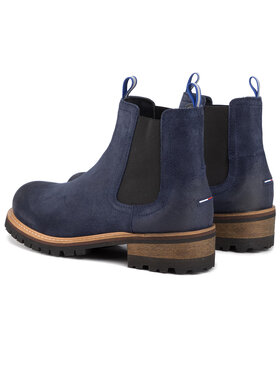 Tommy Jeans Tommy Jeans Štibletai Suede Chelsea Boot EM0EM00353 Tamsiai mėlyna