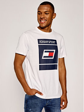 Tommy Sport Tommy Sport T-Shirt Graphic S20S200193 Biały Regular Fit