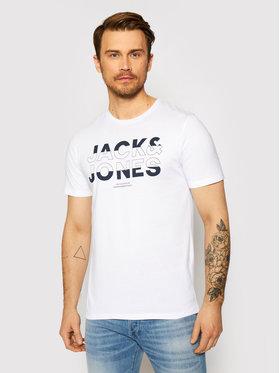 Jack&Jones Jack&Jones Marškinėliai Eddie 12172205 Balta Slim Fit
